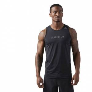 Reebok LES MILLS ACTIVCHILL Men's Studio Crew Neck Tank in Black