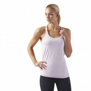 Reebok LES MILLS Women's Studio Tank Top with Padded Sports Bra in Quartz Purple
