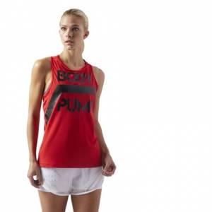 Reebok LES MILLS BODYPUMP™ ACTIVCHILL Women's Studio Tank Top in Primal Red