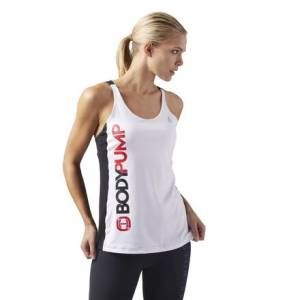 Reebok LES MILLS BODYPUMP™ Women's Studio Tank Top With Built In Bra in White