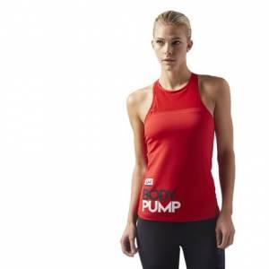 Reebok LES MILLS BODYPUMP™ Women's Studio Tank / Sports Bra in Primal Red