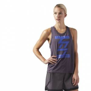 Reebok LES MILLS BODYCOMBAT™ Performance Women's Studio Tank in Smoky Volcano