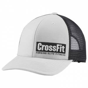 Reebok CrossFit Lifestyle Unisex Training Trucker Cap in Skull Grey