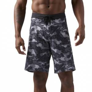 Reebok CrossFit Splash Camo Men's Training Shorts in Black / Grey