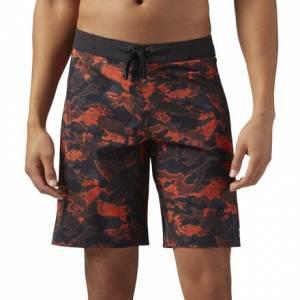 Reebok CrossFit Splash Camo Men's Training Shorts in Primal Red