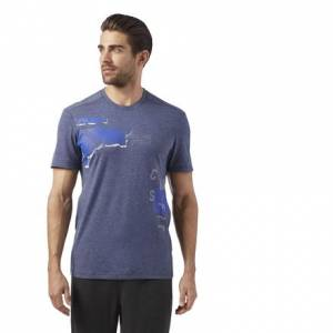 Reebok CrossFit Men's Training Burnout Tee in Collegiate Navy