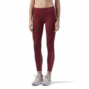 Reebok Women's Dance, Studio Mesh Legging in Urban Maroon