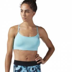 Reebok CrossFit Front Rack Women's Training Sports Bra in Turquoise