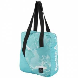 Reebok Women's Training Graphic Print Tote Bag in Solid Teal