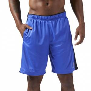 Reebok Knit Performance Men's Training Shorts in Acid Blue