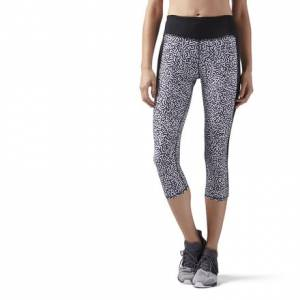 Reebok Running Essentials Capri Women's Leggings in Black / White