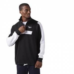 Reebok Quarter-Zip Fleece Men's Casual Sweatshirt in Black