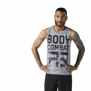 Reebok LES MILLS BODYCOMBAT™ Men's Studio Tank in Medium Grey Heather
