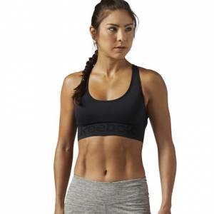 Reebok Workout Ready Women's Fitness Training Seamless Sports Bra in Black