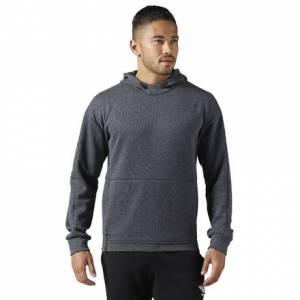 Reebok Classics Hoodie Men's Casual Sweatshirt in Dark Grey Heather