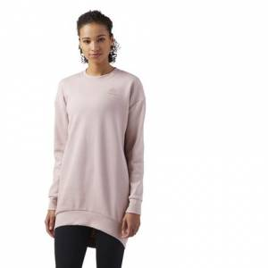 Reebok Classics Women's Casual Oversized Sweatshirt in Shell Pink