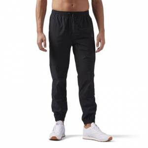 Reebok Training Supply Woven Jogger Men's Pants in Black