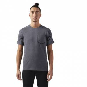 Reebok Training Supply Move Men's T-Shirt in Dark Grey