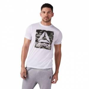 Reebok Camo Speedwick Tee Men's Training T-Shirt in White