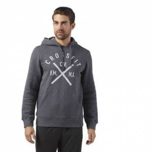 Reebok CrossFit Heritage Men's Training Pullover Hoodie in Dark Grey