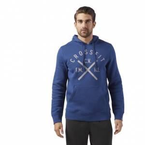 Reebok CrossFit Heritage Men's Training Pullover Hoodie in Washed Blue