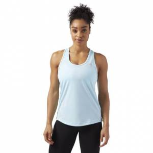 Reebok Performance Women's Training Mesh Tank Top in Blue Lagoon