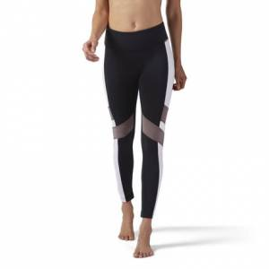 Reebok Lux Legging - Color Block Women's Training Tights in Black