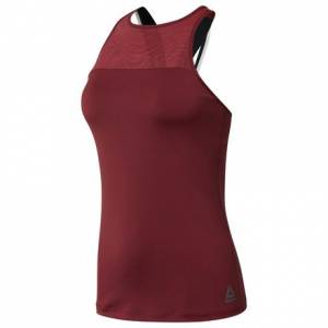 Reebok Women's Training Tank Top With Built Support in Urban Maroon