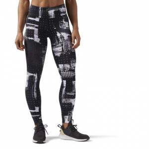 Reebok Lux Women's Training Tights Leggings in White / Black
