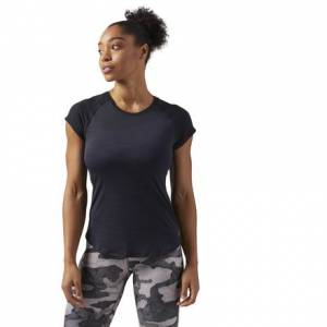 Reebok ACTIVCHILL Vent Women's Training T-Shirt in Black