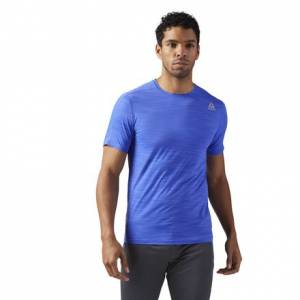 Reebok ACTIVCHILL Move Tee Men's Training T-Shirt in Acid Blue