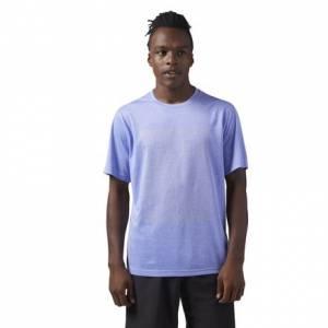 Reebok Reflective Running Men's T-Shirt in Acid Blue