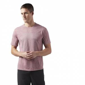 Reebok Reflective Running Men's T-Shirt in Rich Magma