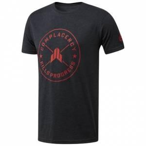 Reebok JJ Watt Weight Plate Tee Men's Training T-Shirt in Charcoal