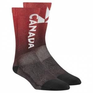 Reebok 2017 CrossFit Team Canada Invitational Unisex Training Socks in Red