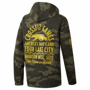 Reebok CrossFit 2018 Games Unisex Training Jacket in Camo