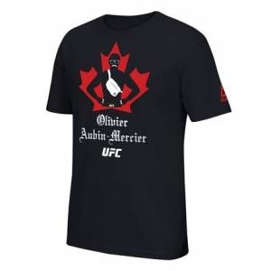 Reebok UFC Olivier Aubin- Mercier Stache & Fanny Pack Men's Tee in Black