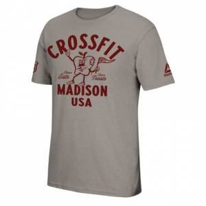 Reebok 2018 CrossFit Games Men's Training Tee in Warm Grey