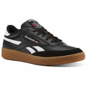Reebok Revenge Plus Gum Men's Court Shoes in Black / White-Gum