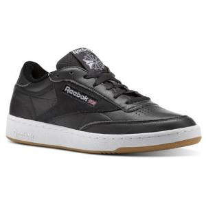 Reebok Club C 85 ESTL Leather Men's Court Shoes in Coal / White / Washed Blue-Gum