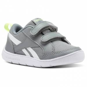 Reebok Ventureflex Chase II - Infant & Toddler Casual Shoes in Flint Grey / Lime Glow / White