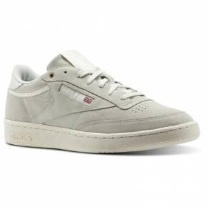Reebok Club C 85 Montana Cans collaboration Unisex Court Shoes in Pebble / Chalk