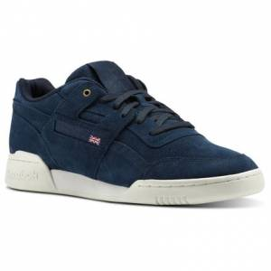 Reebok Workout Plus Montana Cans collaboration Unisex Fitness Shoes in Navy / Chalk