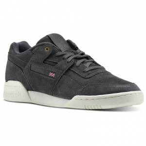 Reebok Workout Plus Montana Cans collaboration Unisex Fitness Shoes in Coal / Chalk