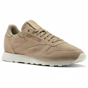 Reebok Classic Leather Montana Cans collaboration Unisex Retro Running Shoes in Duck Season / Chalk