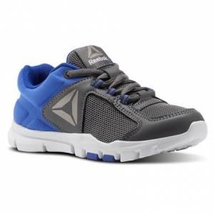 Reebok Yourflex Train 9.0 - Pre-School Kids Training Shoes in Alloy / Vital Blue / Pewter / White