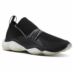 Reebok DMX Fusion CI Unisex Retro Running Shoes in Black / White