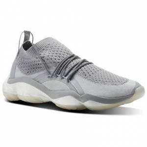 Reebok DMX Fusion CI Unisex Retro Running Shoes in Stark Grey / Chalk