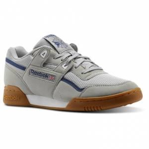 Reebok Workout Plus MVS Unisex Fitness Shoes in Stark Grey / Washed Blue / Ash Grey / White