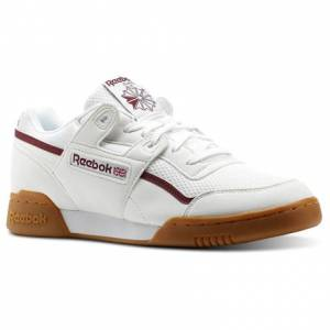Reebok Workout Plus MVS Unisex Fitness Shoes in White / Urban Maroon / Chalk Green